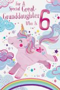 Age 6 Great Granddaughter Birthday Card